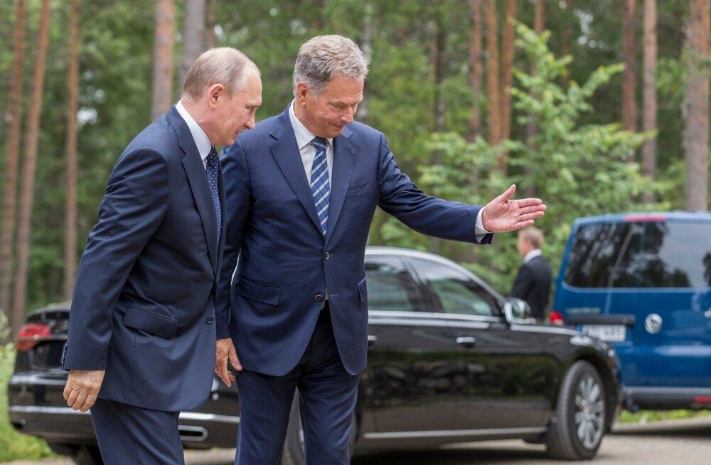 Soome riigipea Sauli Niinistö võõrustas Venemaa president Vladimir Putinit viimati möödunud suvel