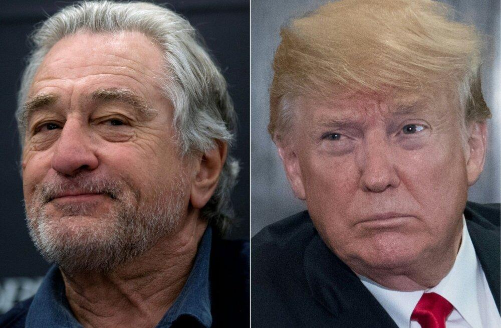 Solvunud Trump kostitas De Nirot karmide sõnadega: ta on filmides liiga palju lööke pähe saanud