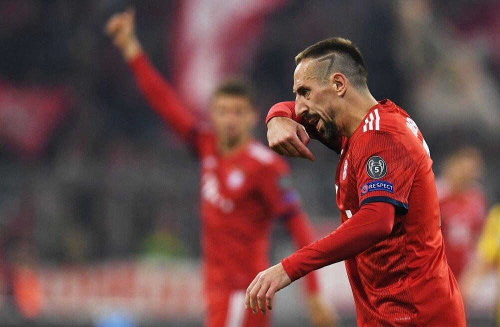 Franck Ribery lõi pärast Bayerni kaotust ajakirjanikku