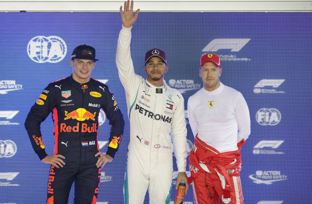Verstappen, Hamilton ja Vettel