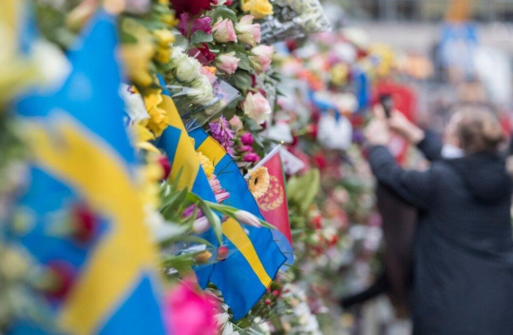 Pärast terrorirünnakut kõrgub sündmuskohal Stockholmi kesklinnas lillemüür. Tuhanded rootslased on käinud kannatanutele austust avaldamas ja hukkunuid mälestamas.