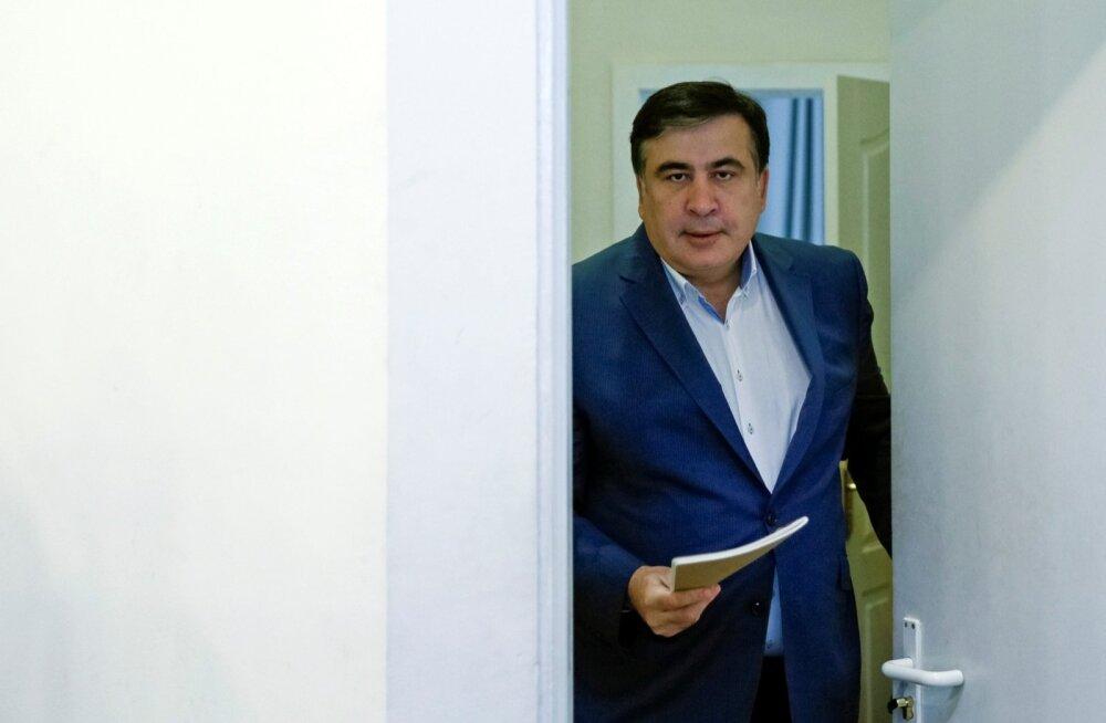 """Mihheil Saakašvili lubab Ukraina poliitikasedasi tegutseda,et """"kõnts"""" minema pühkida."""