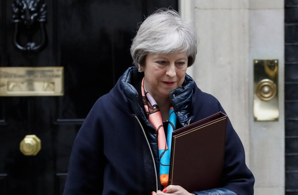 Briti peaminister May valmistub julgeolekunõukogu istungiks, kus arutatakse vastusamme Venemaale
