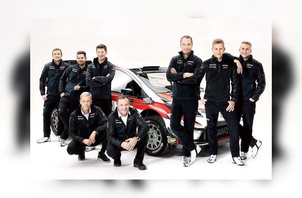 Toyota 2018. aasta meeskond.