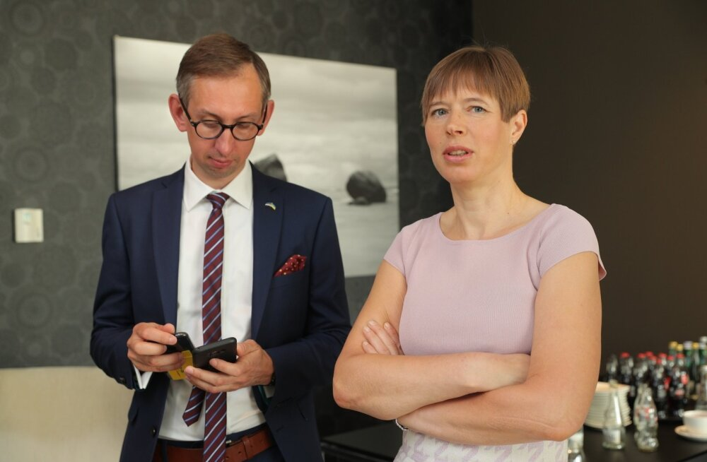 Kersti Kaljulaid, Ukraina, Kiiev, Tallinna Lennujaam