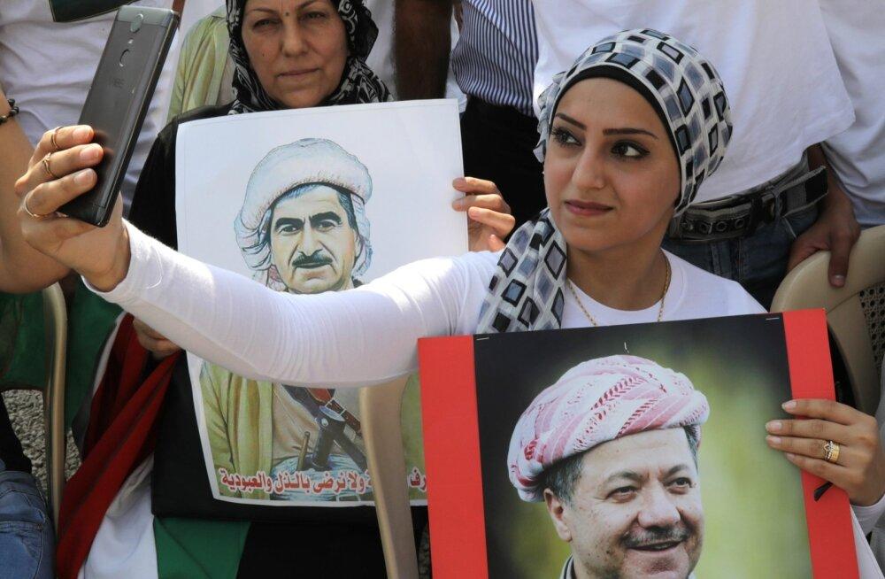 Laupäevane meeleavaldus Kurdi regiooni pealinnas Arbilis