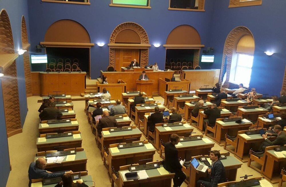Maksumuudatuste eelnõude arutamine riigikogus