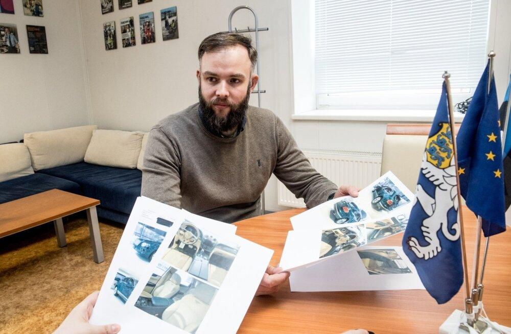 Hannes Kelt näitab pilte autodest, mida ei ole. Eestis loodud firma kaudu olematuid Bentley luksusautosid müünud ukrainlane saadi kätte nädal aega pärast tema tuvastamist.