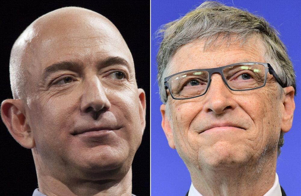 Tehnoloogiagurud Jeff Bezos ja Bill Gates on maailma rikkaimad inimesed. Mida nad oma varandusega üldse teevad?