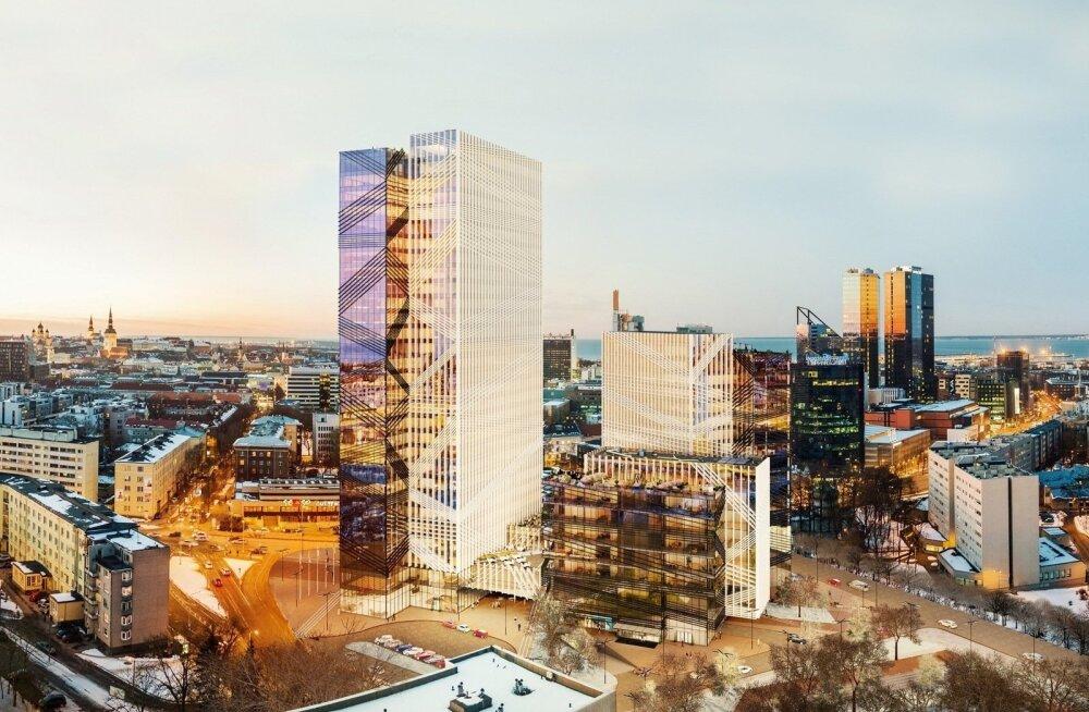 ФОТО: Центр Таллинна украсит самое высокое офисное здание Эстонии