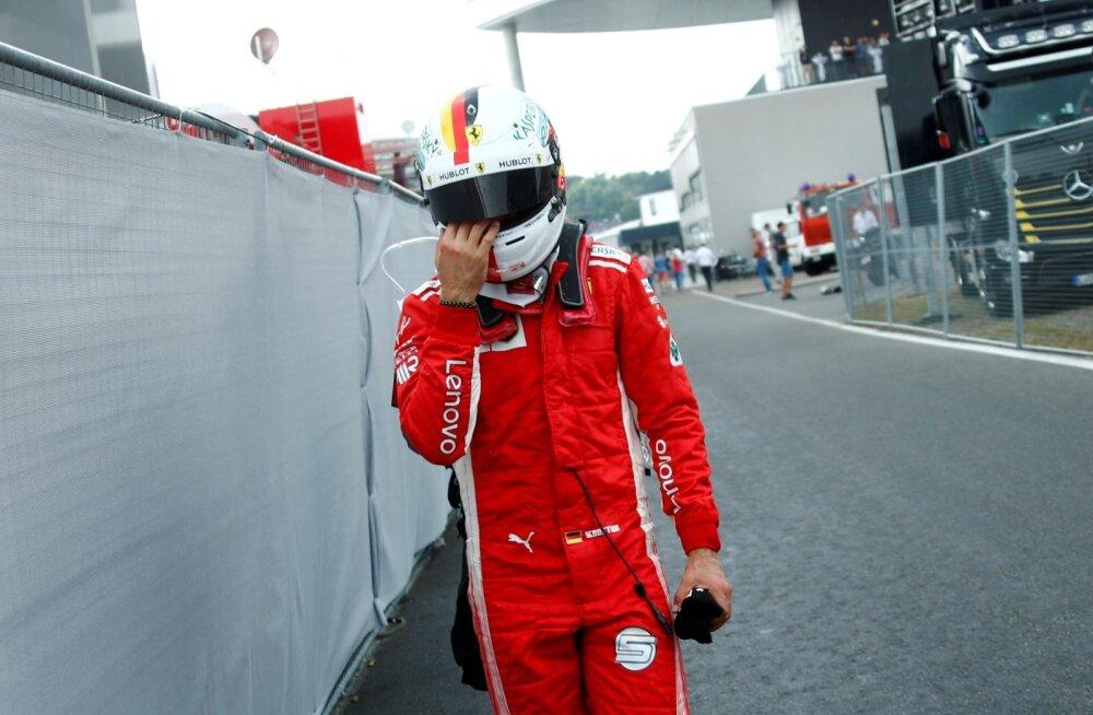 Pettunud Sebastian Vettel.