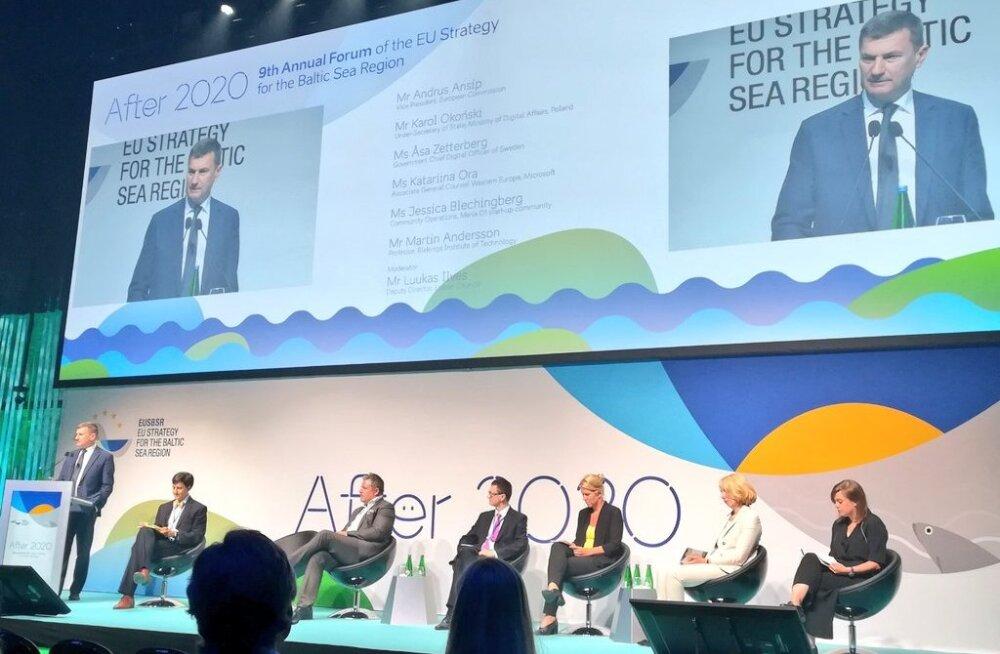 Andrus Ansip Läänemere aastafoorumil: kõigil eurooplastel peab olema ligipääs ülikiirele internetile