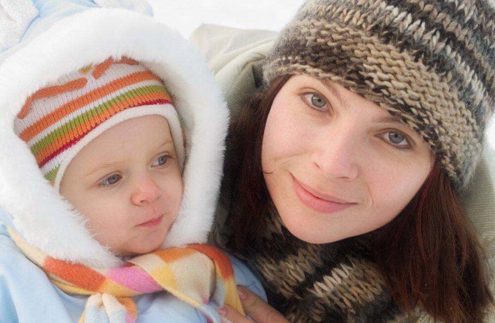 Väikelaste nahahooldus on külmal ajal väga oluline