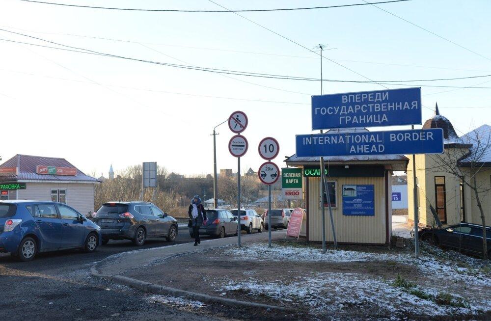 Ivangorod, piir, 03.01.2017