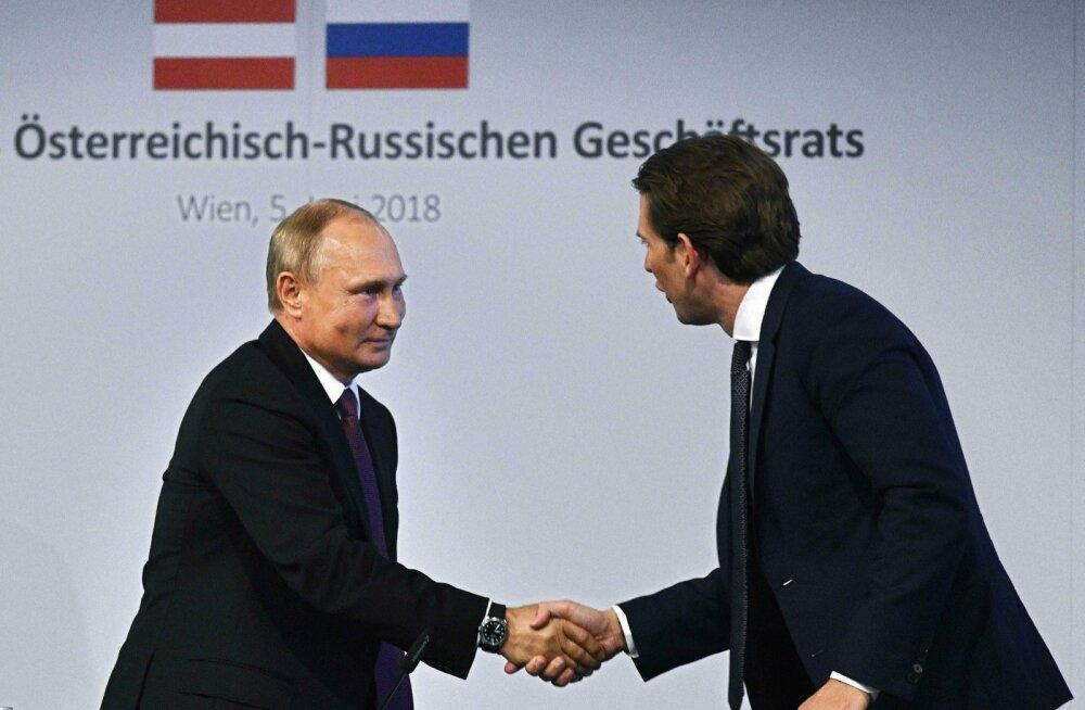 Putin võeti Viinis vastu suure sõbralikkusega, EL-i eesistuja Austria kipub sanktsioonide kallale