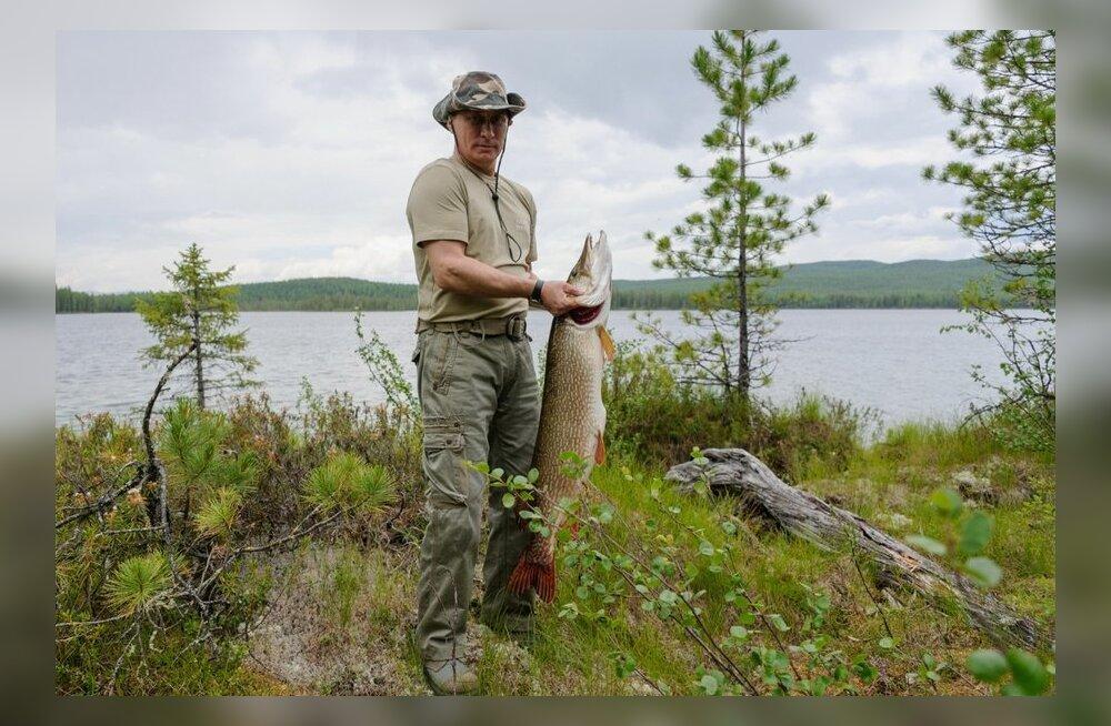 FOTOD: Putin püüdis 21-kilose haugi