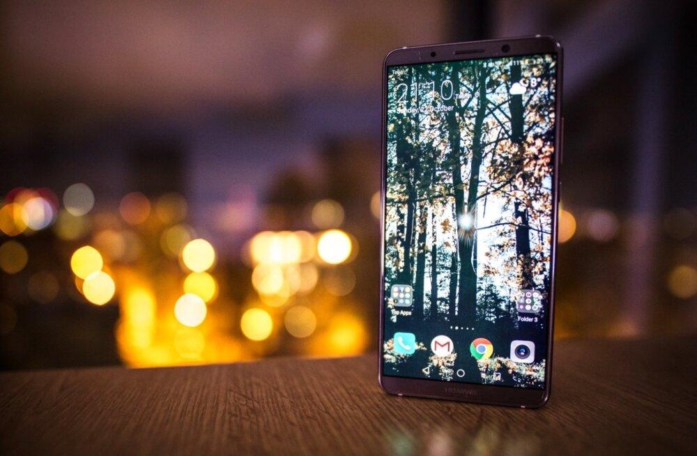 Huawei värskeim lipulaev Mate 10 Pro, mis peaks Euroopas müügile jõudma novembri keskpaigas.