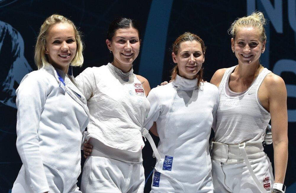 Erika Kirpu, Julia Beljajeva, Irina Embrich ja Kristina Kuusk. Taas medalivõitjad