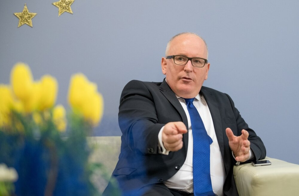 """Euroopa Komisjoni asepresident Frans Timmermans nimetas Eesti suhtumist väga ratsionaalseks. """"Kui Eesti pole millegagi nõus, siis ei öelda lihtsalt ei-ei-ei. Pakutakse kohe alternatiivi või kompromissi."""""""