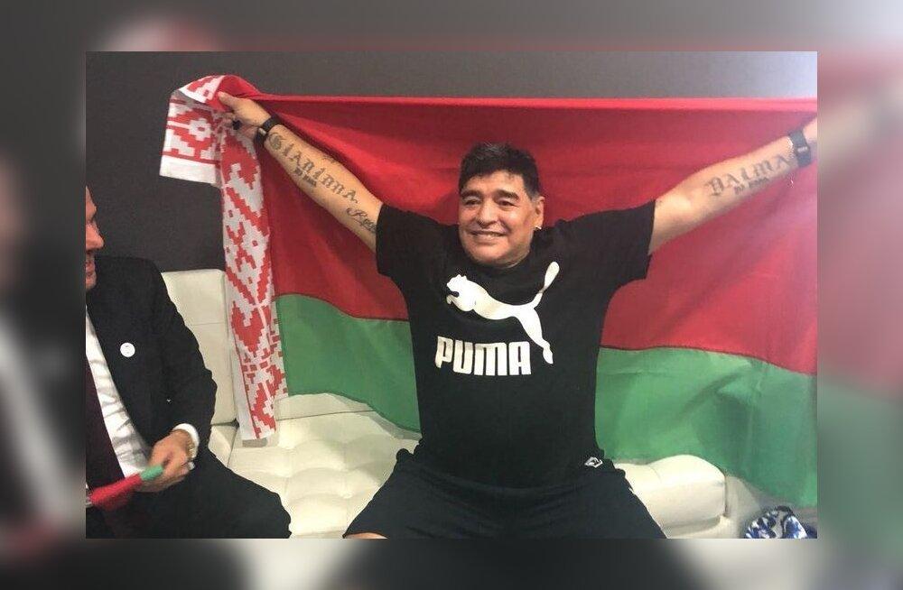 Diego Maradona töötab edaspidi Valgevenes.