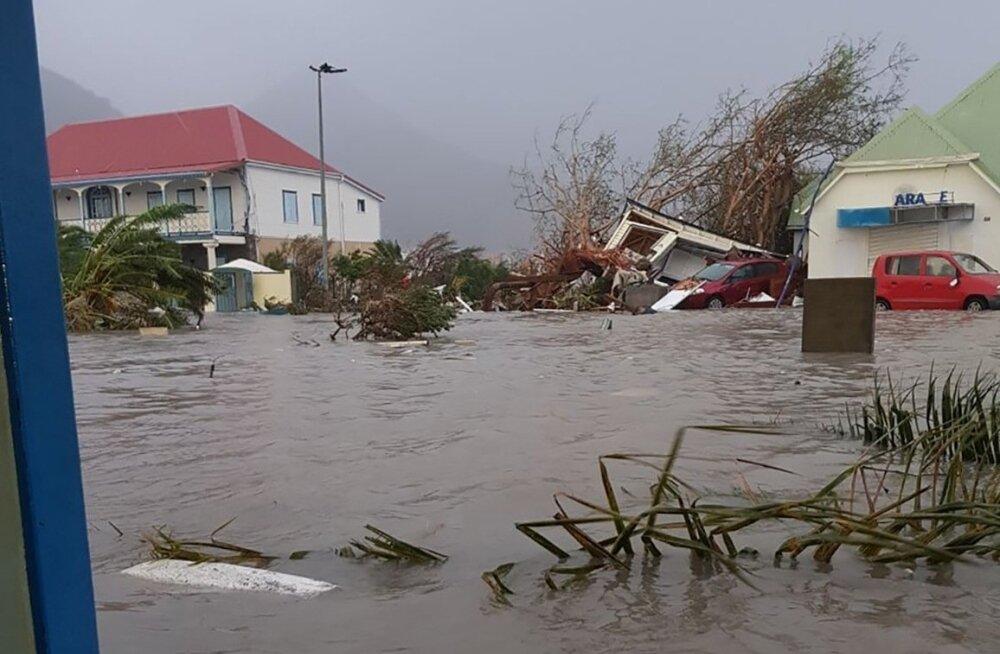 Orkaan Irma kahjustused Barbuda saarel