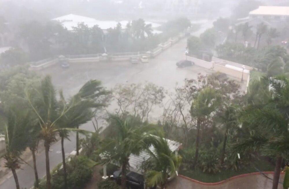 Orkaan Irma tabas Turksi ja Caicose saari, mis võidakse üle ujutada