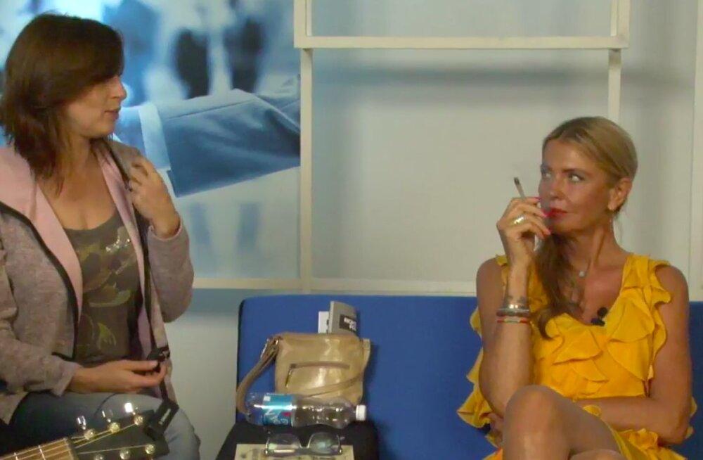 FOTOD | Anu Saagim ja Telegrami tegijad hõivasid Delfi TV stuudio ja suitsetasid seal kanepit