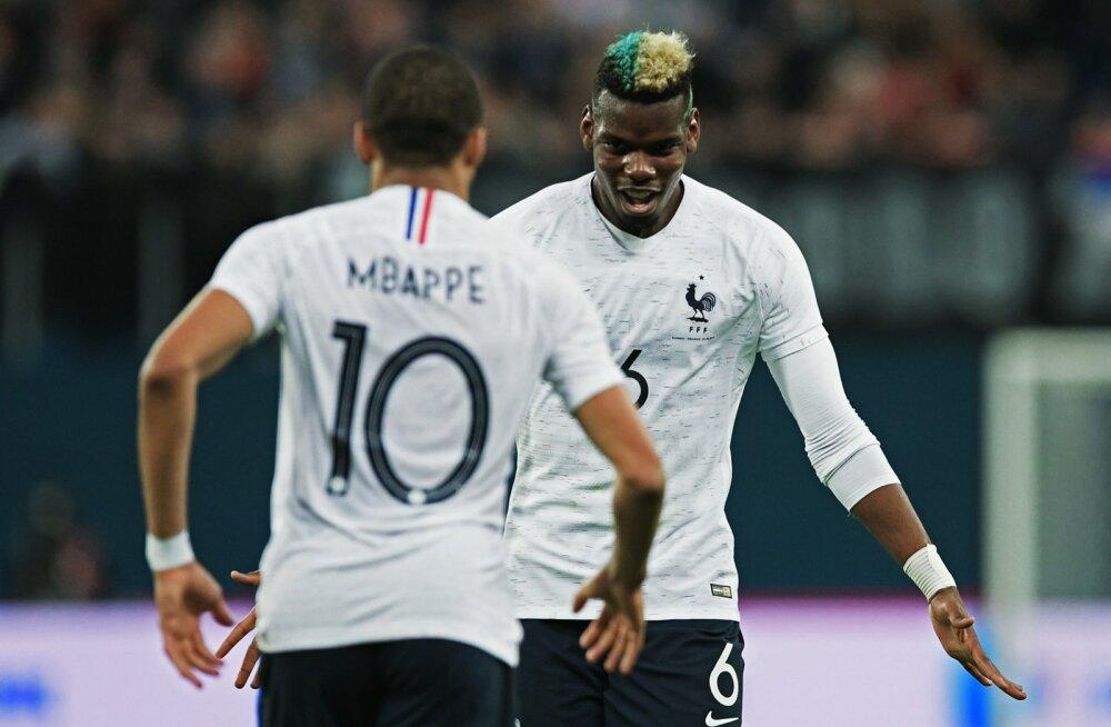 Prantsusmaa koondis loodab palju Kylian Mbappelt (vasakul). Koondise liidriks peaks olema aga Paul Pogba.