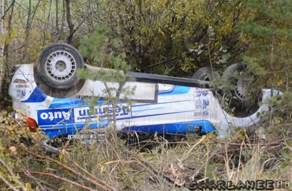 VIDEO | Saaremaal lõhuti autosid juba rallieelsel testipäeval