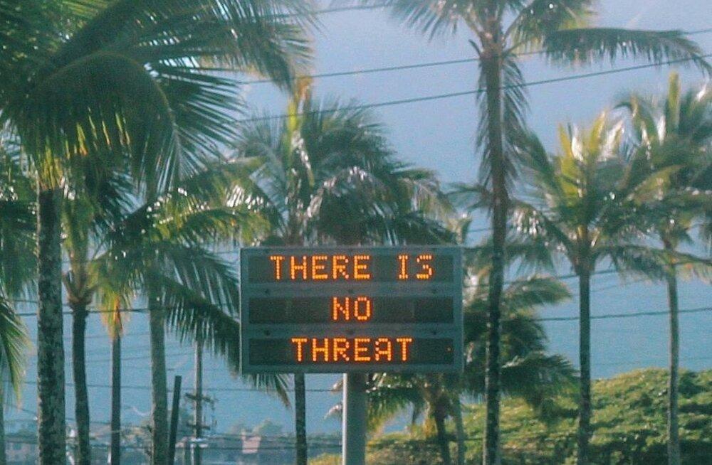 Pärast raketipaanikat teatati Hawaiil, et ohtu pole.