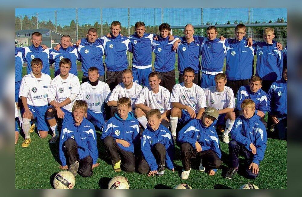 Kolm põlvkonda jalgpallureid: Rummu Dünamo on meeskonnana tegutsenud 45 aastat