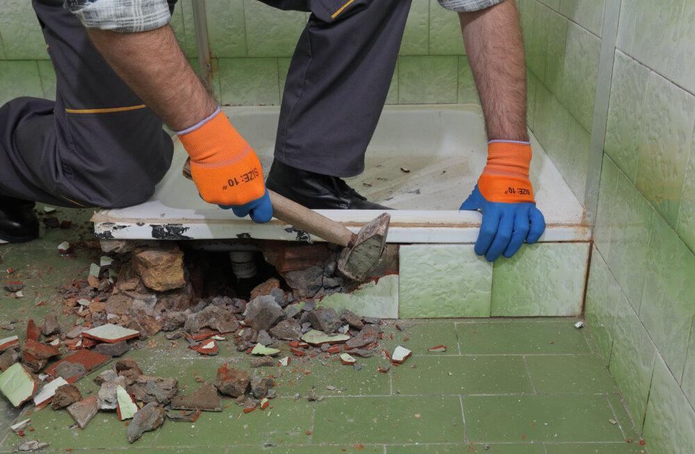 Kui palju maksab vannitoa remont? Vaata paneelmaja vannitoa remondi näidiskalkulatsiooni