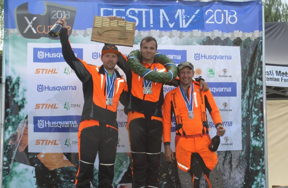 Eesti meistrite esikolmik: Aiko Laas, Jarro Mihkelson ja Taavi Ehrpais.