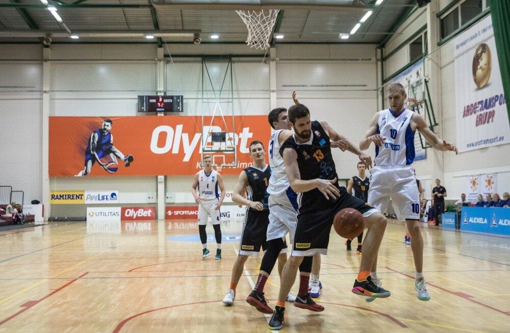 Alexela korvpalli meistriliiga mäng TLÜ/Kalev - Pärnu Sadam