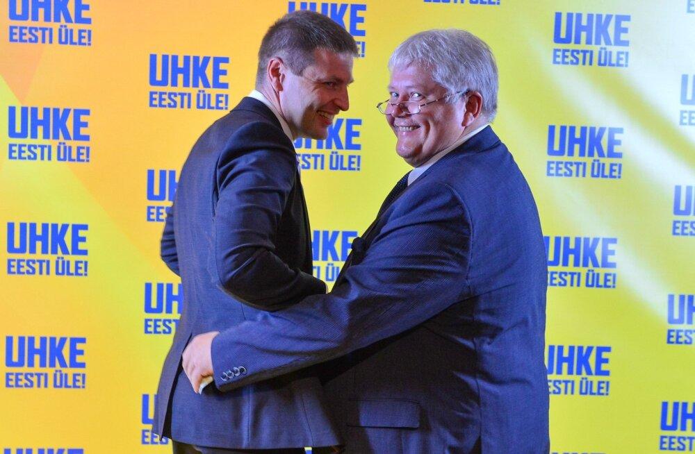 Hanno Pevkur (vasakul) loodab Rein Langi abiga Reformierakonna riigikogu valimistel võidule viia.