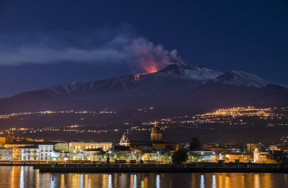 Euroopa kõige aktiivsem vulkaan Etna vajub tasapisi merre