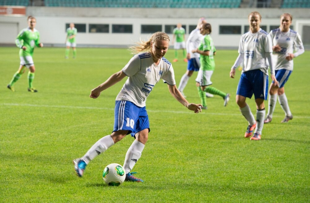 Naiste jalgpall - Pärnu JK vs Wolfsburg