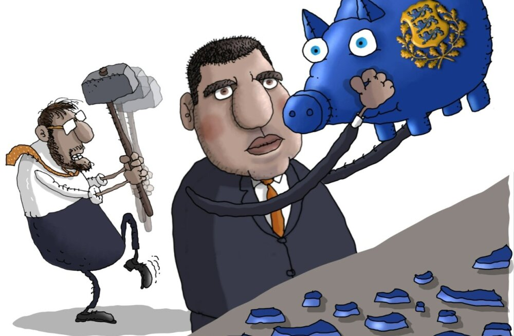 KARIKATUUR | Riigi rahapõrsas on kindlates kätes
