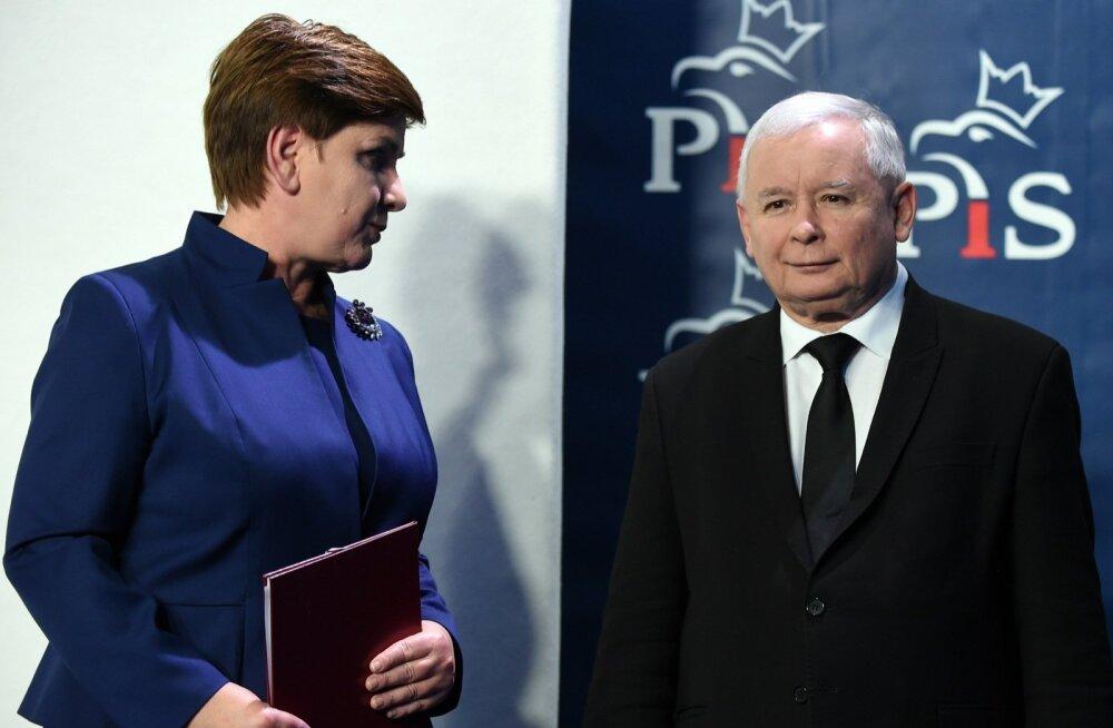 Szydło ja Kaczyński valitsuskabineti väljakuulutamisel. Kas üks vahetab teise välja?