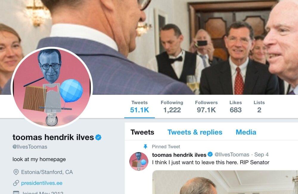 Kui Toomas Hendrik Ilves ei ole suurima jälgijaskonnaga eestlane Twitteris, siis on ta kindlasti viie populaarsema hulgas.