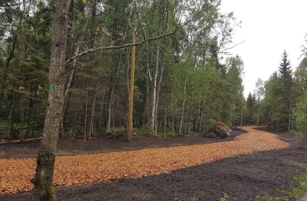 Uus terviserada Randvere tee naabruses.