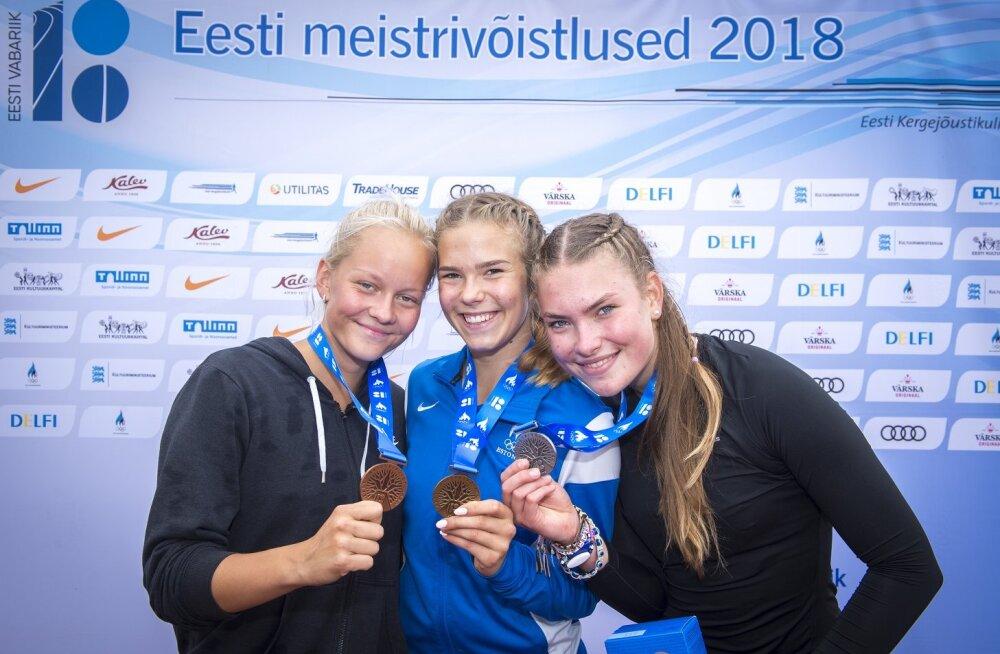 Selgusid U14, U16 ja U18 vanuseklasside mitmevõistluse Eesti meistrid