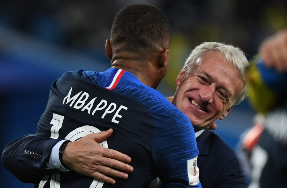 Kylian Mbappe ja Didier Deschamps