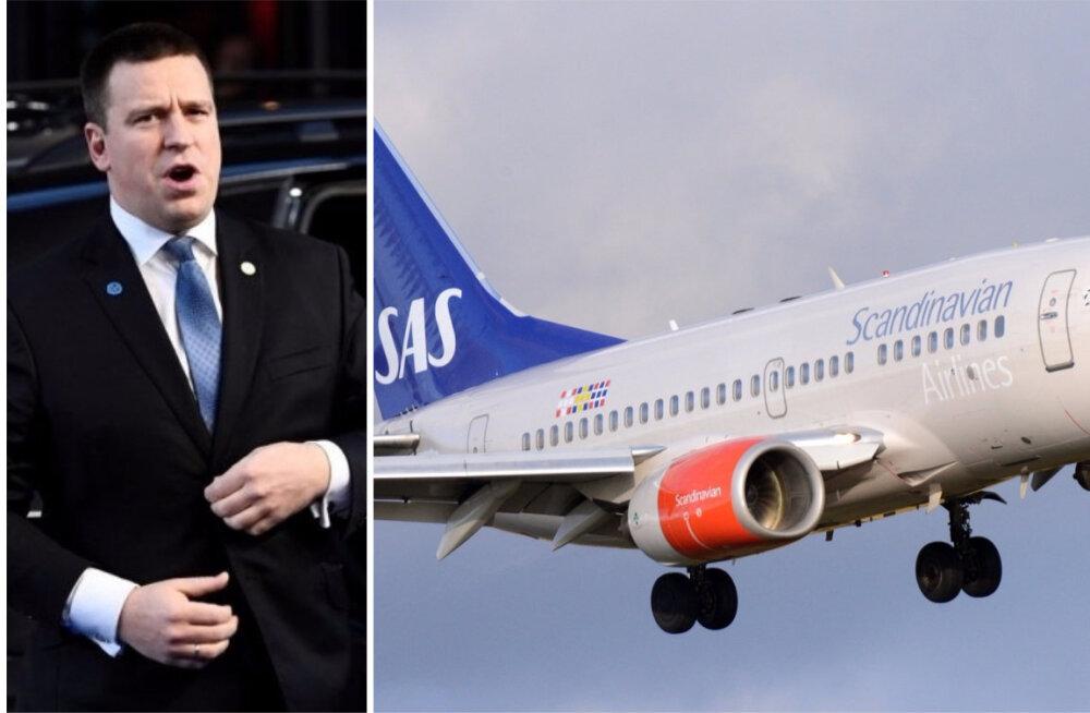 SAS о несостоявшемся полете Ратаса: по нашим данным, пилот ждал премьер-министра так долго, насколько возможно