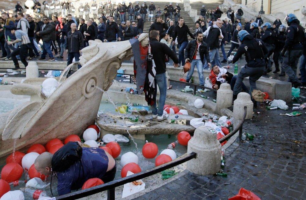 Italy Soccer Europa League Clashes