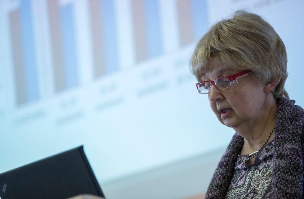 Piirikaubanduse uuringut tutvustas konjunktuuriinstituudi juht Marje Josing.