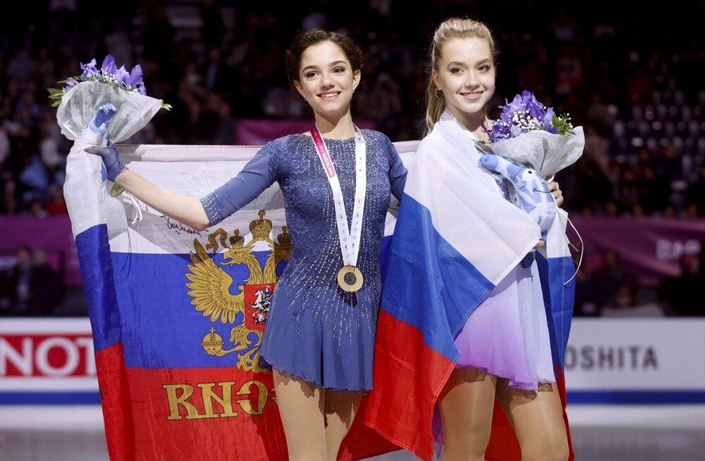 Evgenia Medvedeva ja  Elena Radionova