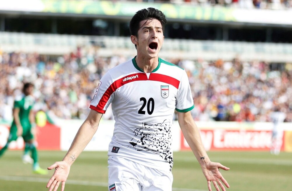 """Iraani Messi"" Sardar Azmoun peab vedama MM-il Iraani rünnakuid."