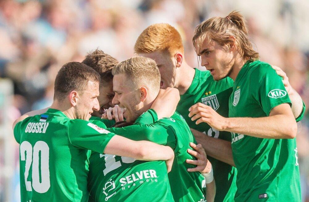 Evald Tipneri Karikafinaal Tallinna FC Flora ja JK Sillamäe Kalevi vahel A le Coq Arenal, Lillekülas.