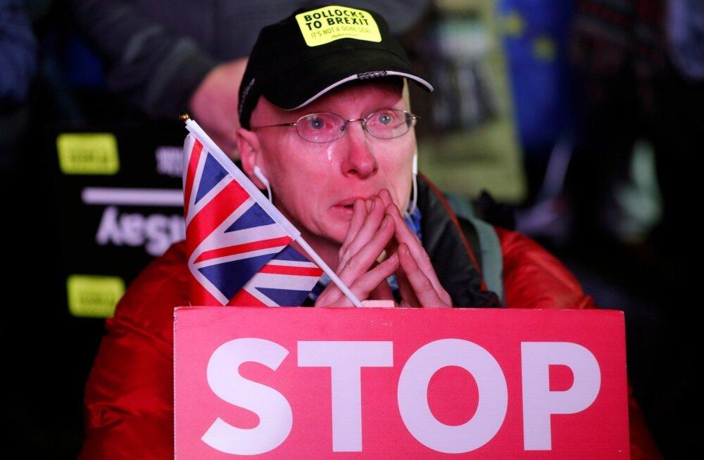 Brexiti vastastel pani saadikute otsus eile õhtul Londoni parlamendihoone juures pisarad jooksma.